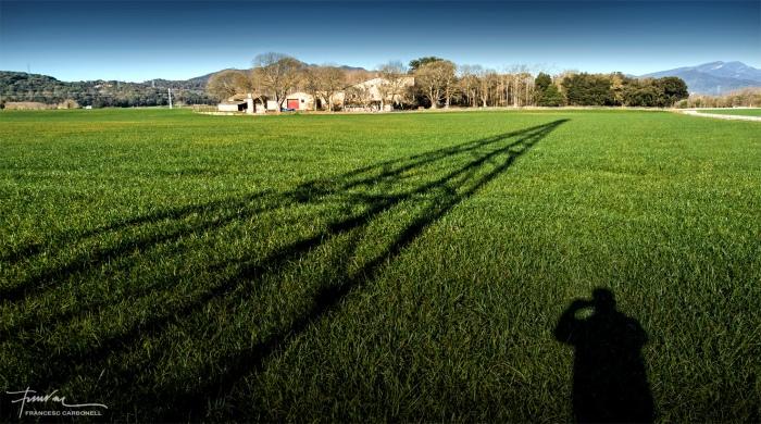 Paisatge rural amb ombres