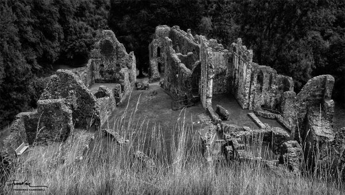 Ruïnes del castell d'Okehampton (West Devon, England)