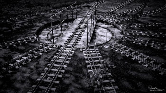 Pont giratori del tren petit de Fornells
