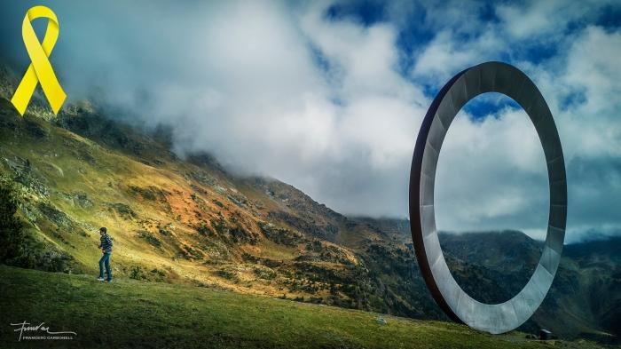 Arcalís 91 escultura de M. Staccioli. Ordino (Andorra) b